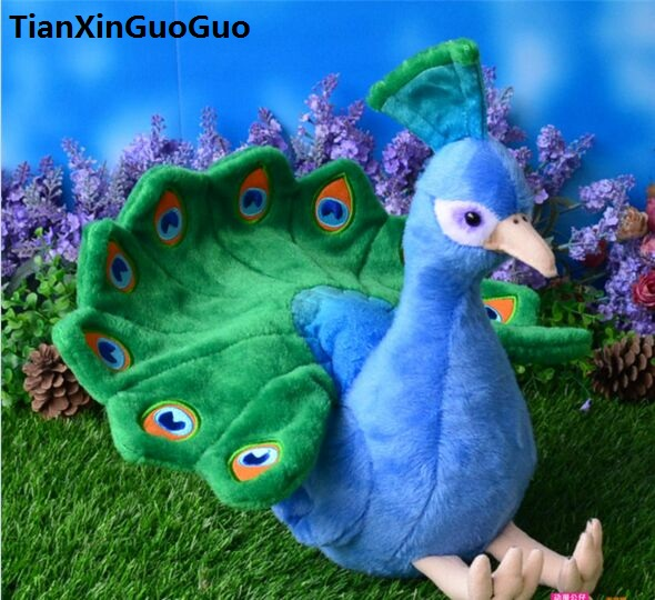 beautiful peacock plush toy about 30cm bird soft doll toy birthday gift s0267