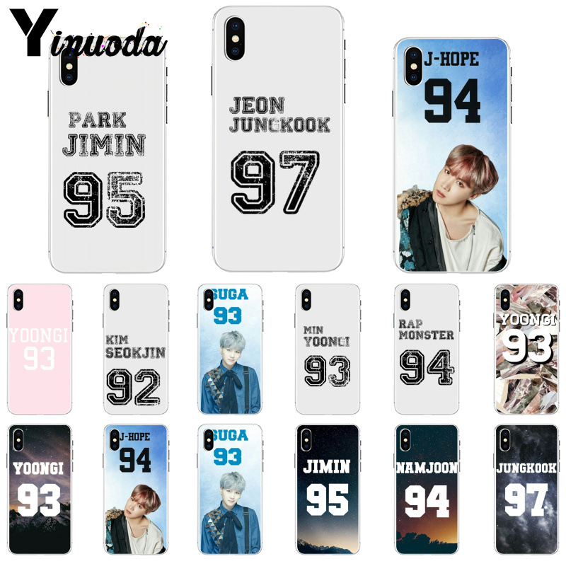 Half-wrapped Case Maiyaca Bts Jersey Jungkook Jhope Jimin Luxury Tpu Rubber Phone Case Cover For Iphone X Xs Max Xr 6s Plus 5s 7 8plus Case Cover Easy To Use