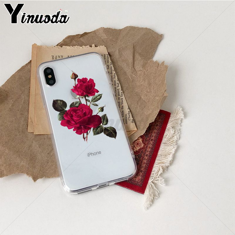 Image 5 - Yinuoda Rose flowers Colorful Phone Accessories Case for iPhone Xr XsMax 8 7 6 6S Plus Xs X 5 5S SE 5C Cases-in Half-wrapped Cases from Cellphones & Telecommunications
