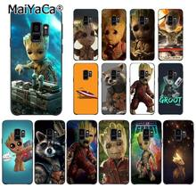 MaiYaCa Guardião Guaxinim Foguete Groot Treeman Silicone Caixa Do Telefone para Samsung Galaxy S9 plus S7 borda borda mais S5 S6 s8 plus(China)