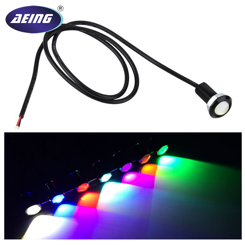 AEING Car Moto waterproof 18mm Ultra-Thin COB LED Eagle Eye DRL Daytime Running light Fog Parking Tail Reverse Backup Rear Lamp leadtops 10 pack car light diy 12v ultra thin fog tail eagle eye light car daytime running lights ice blue light silver ce