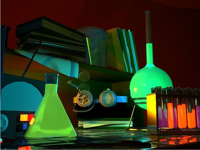 7x5ft Experiment Science Lab Laboratory Custom Photo