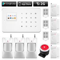 GSM Alarm Wireless APP Control TFT Touch Screen Anti theft Home Security Alarm Family Protection Systems Door PIR Motion Sensors