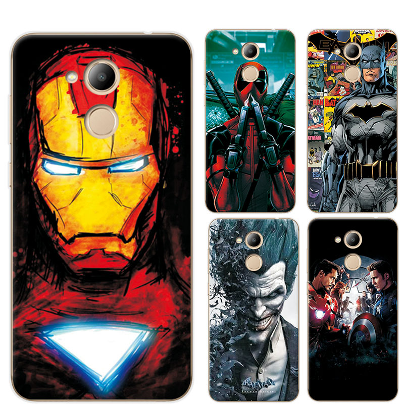 Fitted Cases Novelty Phone Case For Huawei Nova 4 Avengers Iron Man Tpu Painted Back Cover For Huawei Honor 8a 8c 8x Case For Huawei Y6 2019