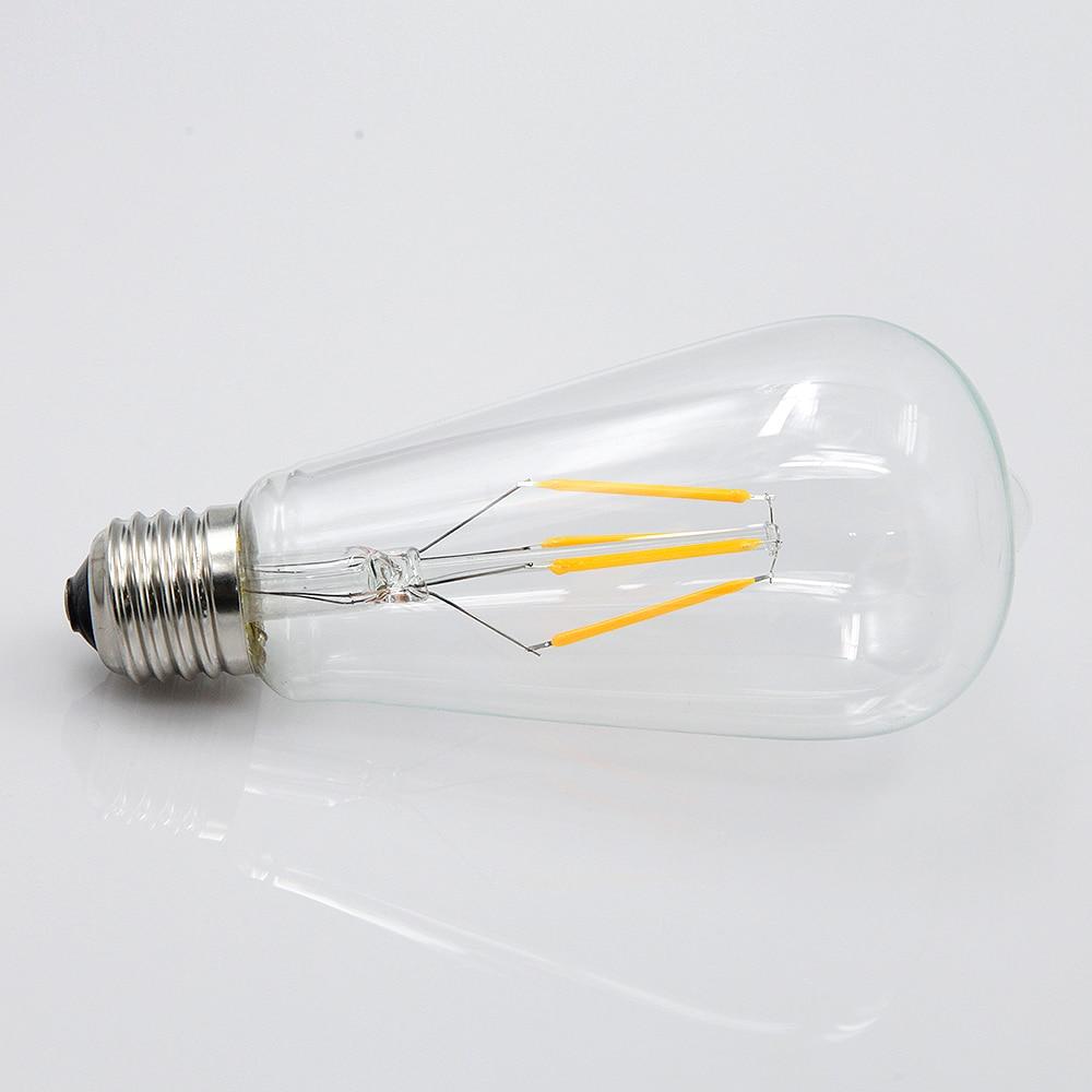 YNL E14 E27 bombilla LED Edison 220V 2W 4W 6W 8W Retro Vintage antiguo lámpara LED bombilla de filamento Vintage colgante bombilla de luz de vidrio