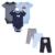 Sistemas del bebé 2016 de la Marca Bebé Ropa de Los Muchachos 6 Unids/lote Infantil mono de Manga Corta de Verano la Ropa Del Bebé Muchachas del Muchacho del Verano V49