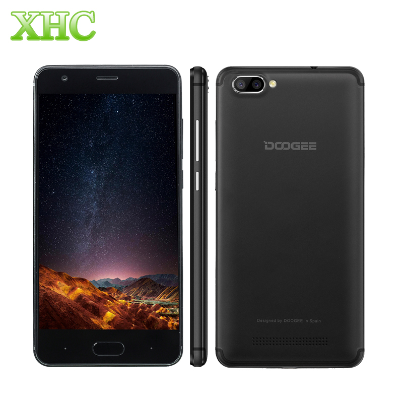 Newest DOOGEE X20 5.0'' Mobile Phone Android 7.0 720*1280 Dual Back Camera 2GB + 16GB MTK6580 Quad Core 1.3Ghz 3G Smart Phone