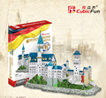 Cubicfun 3D Puzzle 98pcs New Swan Stone Neuschwanstein Castle 41.5*18*33.5CM Germany Building MC062H-2
