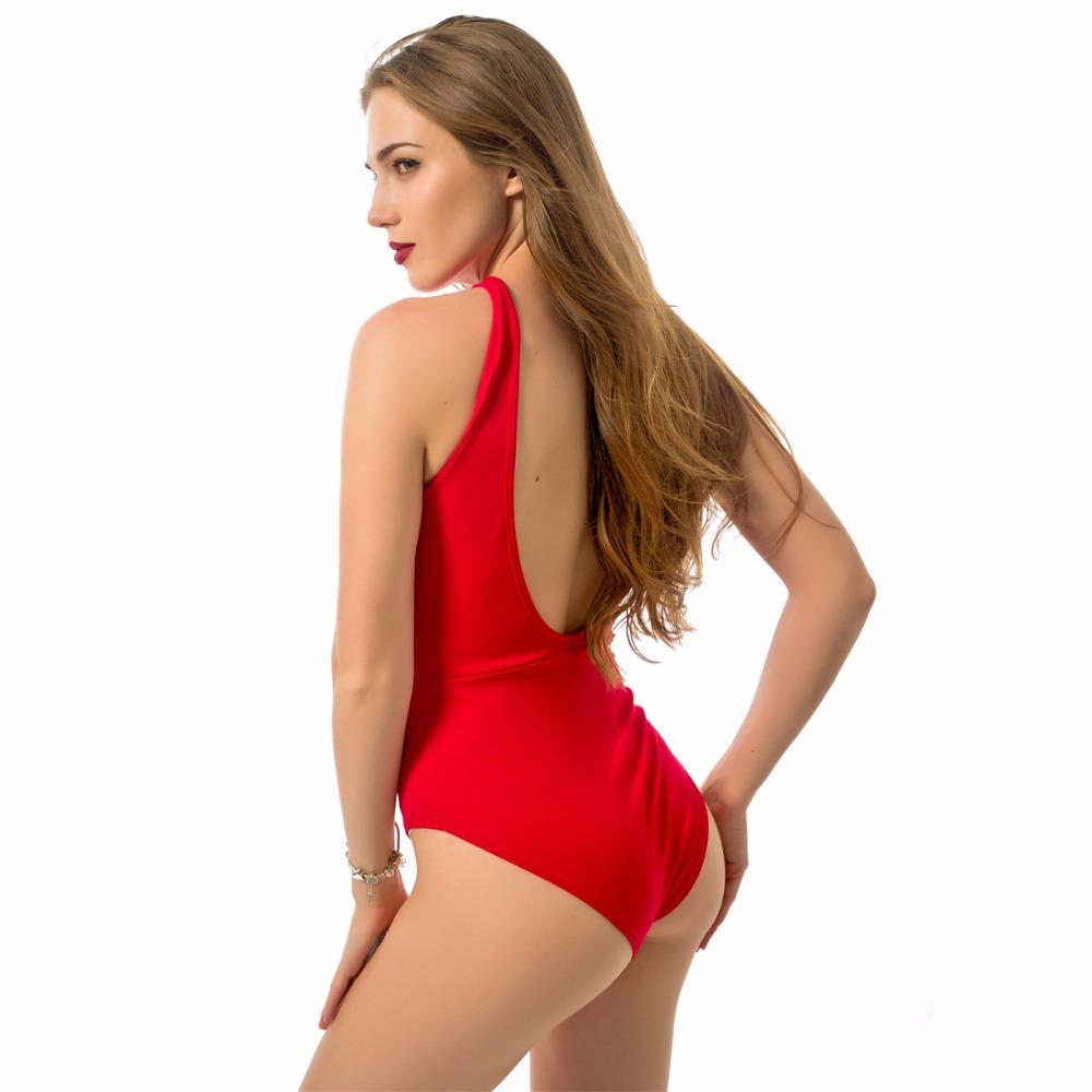 HTB1YZcwRVXXXXc2XFXXq6xXFXXXH - Sexy Red Swimwear Women Zipper Swimwear One Piece JKP011