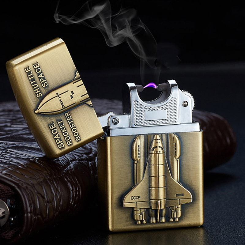 2pcs lot 2017 USB Bronze 3 dimension embossing lighter high quality plasma lighter Cool isqueiro cigarette