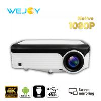 Wejoy LCD 4K Projector L6 Android Optional 1080P Video Home Cinema Proyector Full HD Movie LED TV proiettore 4k tv