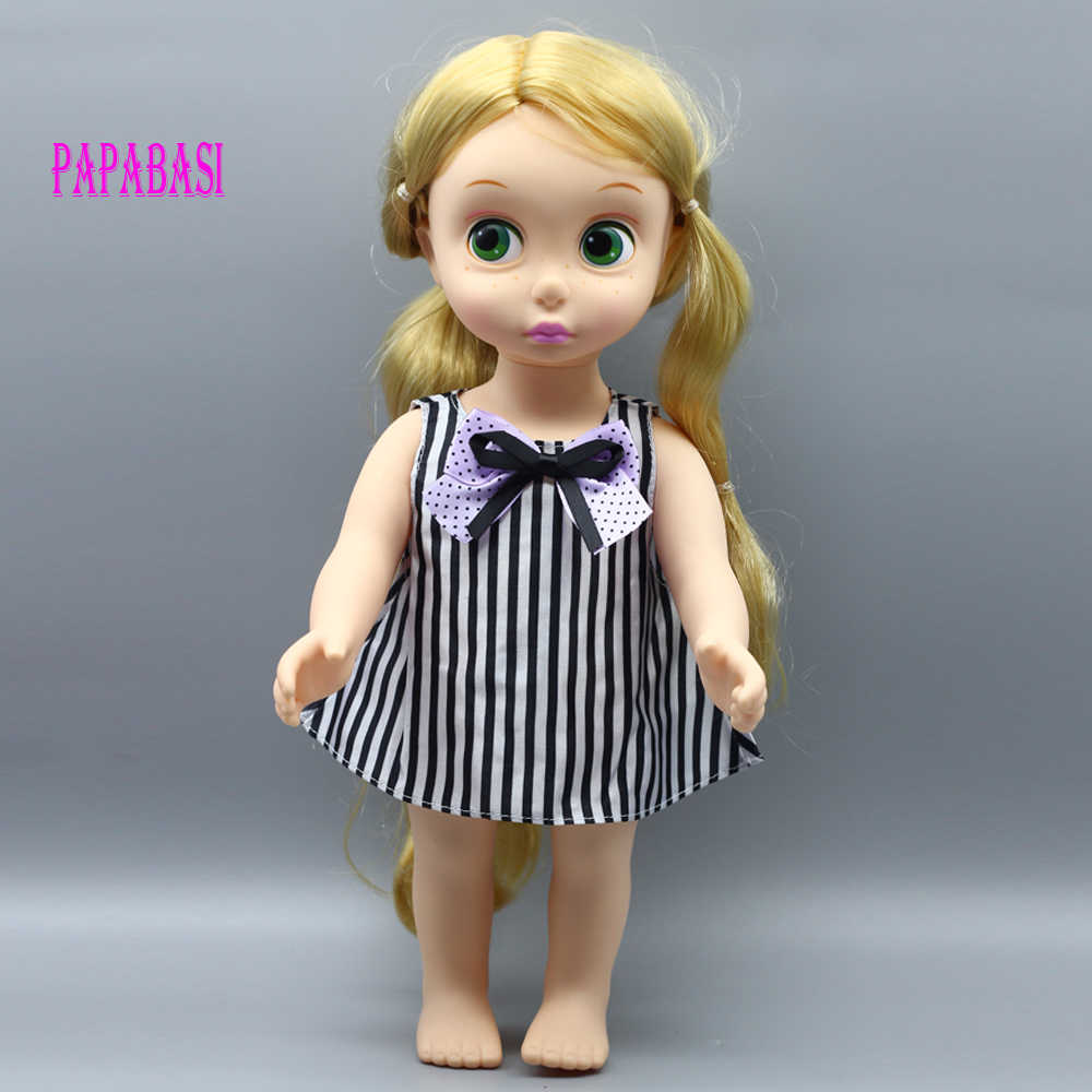 1pc stripes short dress for 18inch doll clothes with bowknot for 16 inch Sharon doll, dress clothes only