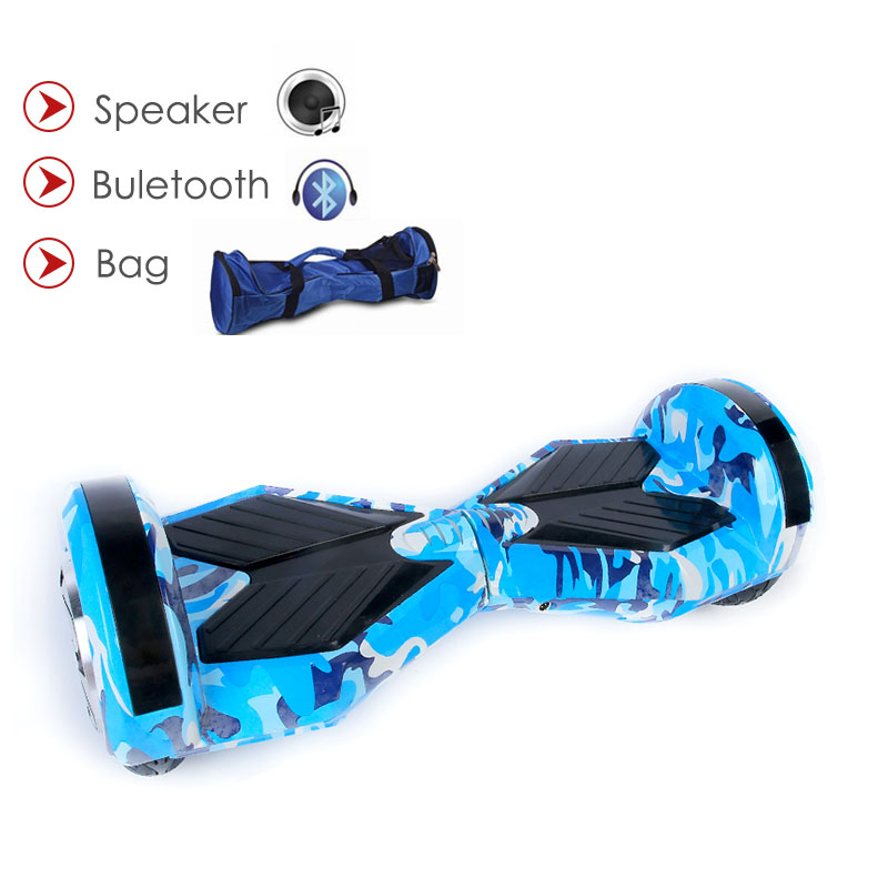 8 Inch Self Balance 2 Wheels Electric Scooter With Samsung Battery Bluetooch Bag Remote Smart