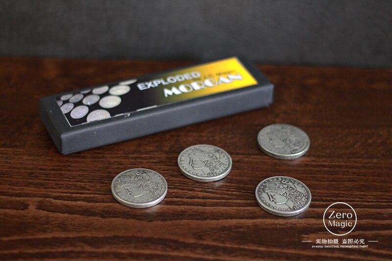 ระเบิด Morgan Magic Tricks คูณเหรียญปรากฏหายไป Magia นักมายากลอุปกรณ์เสริม Illusion Props Gimmick props-ใน มายากลมหัศจรรย์ จาก ของเล่นและงานอดิเรก บน   2