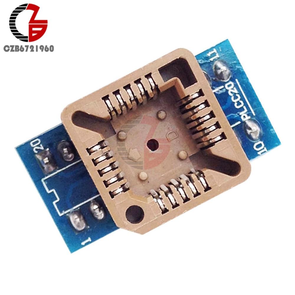 цена на PLCC20 to DIP20 Program IC Socket IC Test Socket Universal Power Adapter Converter Module