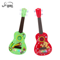 Cartoon Simulation Ukulele Mini Electronic Guitar Kids Musical Instrument Toys 4 Strings Educational Play Toy Gift for Children