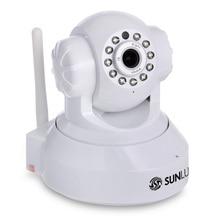 SUNLUXY Inalámbrica WiFi 720 P HD Pan/Tilt Cámara IP Seguridad Cámara de INFRARROJOS Visión nocturna Onvif Red CCTV Cam withTF Ranura Interior Enchufe de LA UE