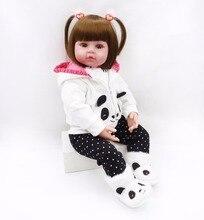 प्यारा 61 सेमी नरम शरीर सिलिकॉन विनाइल पुनर्जन्म बच्चे गुड़िया राजकुमारी bebe क्रिसमस नया साल उपहार जीवित लड़की सस्ते सस्ते कीमत के लिए खिलौने खिलौने
