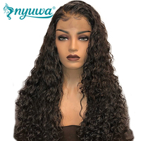 Pre Plucked Full Lace Human Hair Wigs Glueless With Baby Hair Bleached Knots Natural Hairline NYUWA Brazilian Remy Hair Lace wig