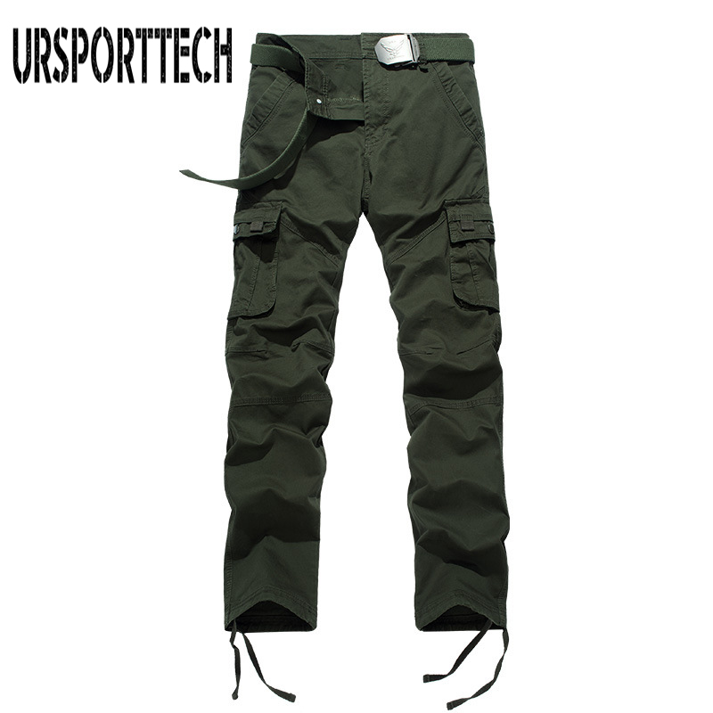 Spring Autumn Men Cargo Pants Men Cotton Straight Military Pants Many Pockets Stretch Flexible Man Casual Trousers Large Size