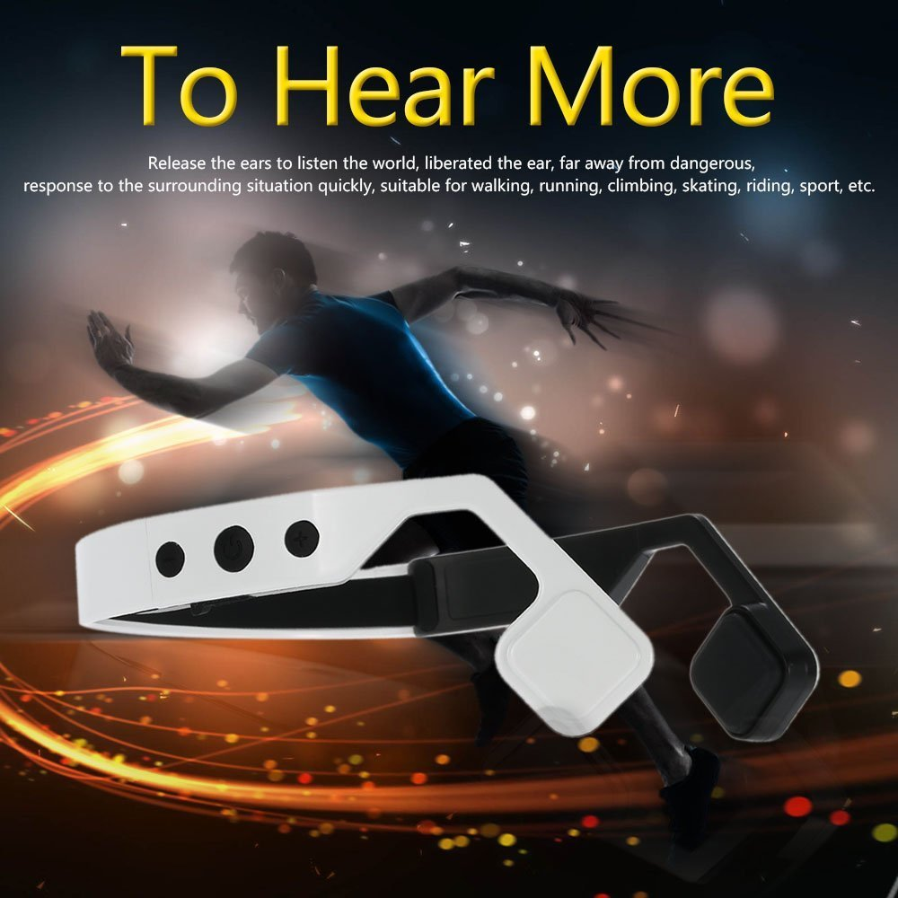 SIFREE Wireless Bone Conduction Headphones Bluetooth 4.1 Headset Earphone Stereo Music Mic Hearing Aids Ear Release for sport for cobra garmin two way radios in ear stlye bone conduction headset