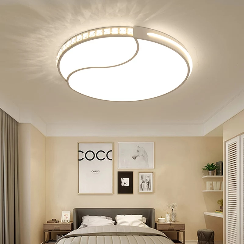 Free Shipping 420/520/620mm Bedroom Living Room Modern Led Ceiling Lights Acrylic Round White Finish Ceiling Lamp FixturesFree Shipping 420/520/620mm Bedroom Living Room Modern Led Ceiling Lights Acrylic Round White Finish Ceiling Lamp Fixtures