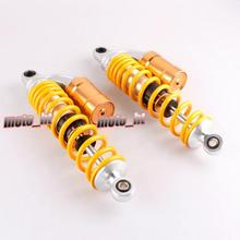 13″ 340mm Motorcycle Rear Suspension Air Shock Absorber For Honda CB400 600CC 1000CC Yellow