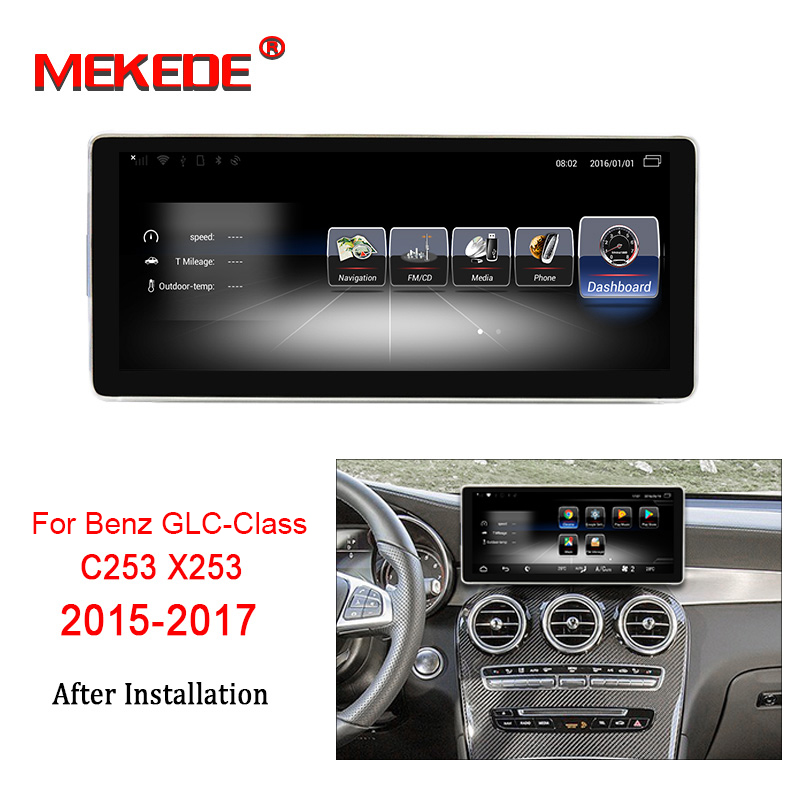 New arrival!3GB+32GB android7.1 <font><b>Car</b></font> navigation <font><b>GPS</b></font> NAVI DVD player for <font><b>Mercedes</b></font> Benz GLC Class X253 C253 2015-2017 with 4G LTE image