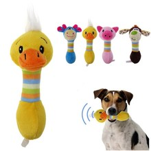 funny dog toys stuffed sustainability chew cat squeak noise made Lovely Pet toy Dog plush duck pig deer h333