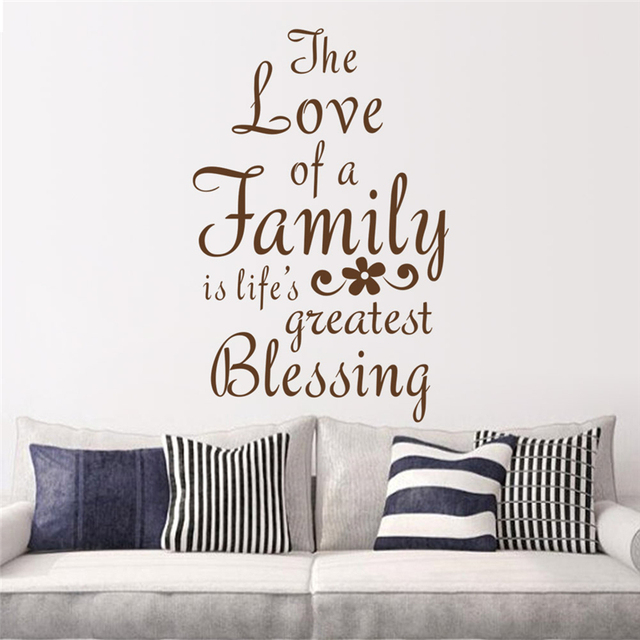 The Love Of A Family Is Life's Greatest Blessing Quotes Wall Sticker Stunning Lifes Great Quotes