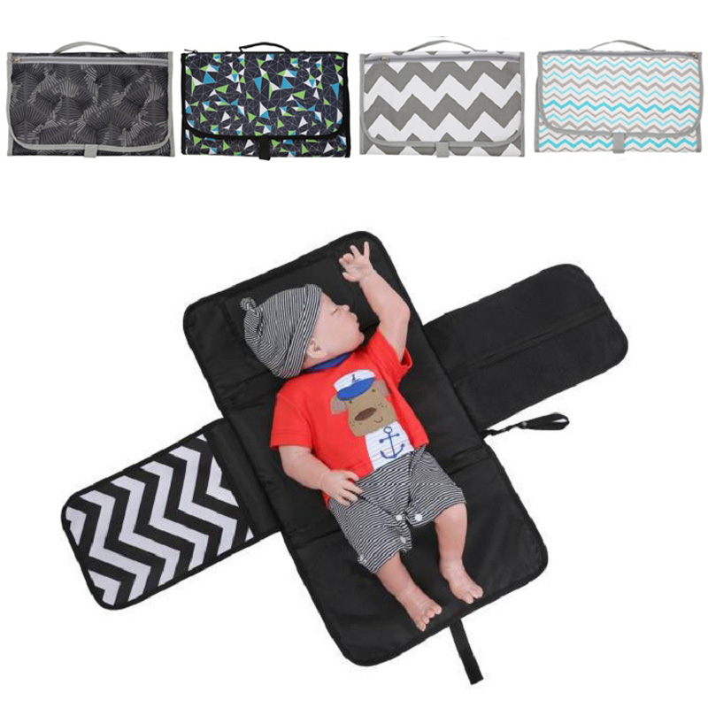 Energetic Portable Foldable Nappy Changing Mat Waterproof Diaper Baby Changing Kit For Home Travel Outside Storage Bag Baby Floor Mat Consumers First Changing Pads & Covers
