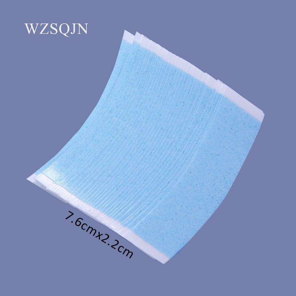 Бесплатная доставка 36 шт./лот, кружево спереди поддерживать высокое качество сильный двойной синяя лента для накладки парик клейкая лента