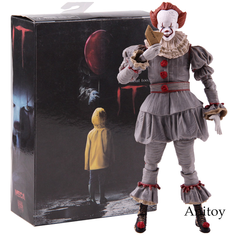 Игрушки NECA Стивен Кинг это клоун Pennywise Рисунок ПВХ ужас фигурки героев Коллекционная модель игрушки