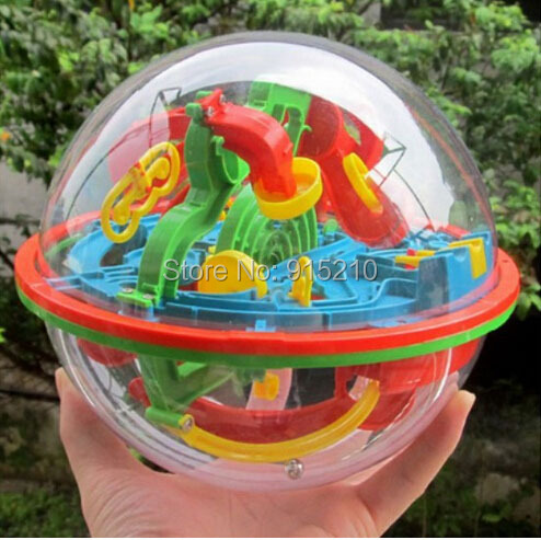 100 Levels 929A Magic Intellect Ball Puzzle ball Small Educational Marble Puzzle Game perplexus magnetic balls