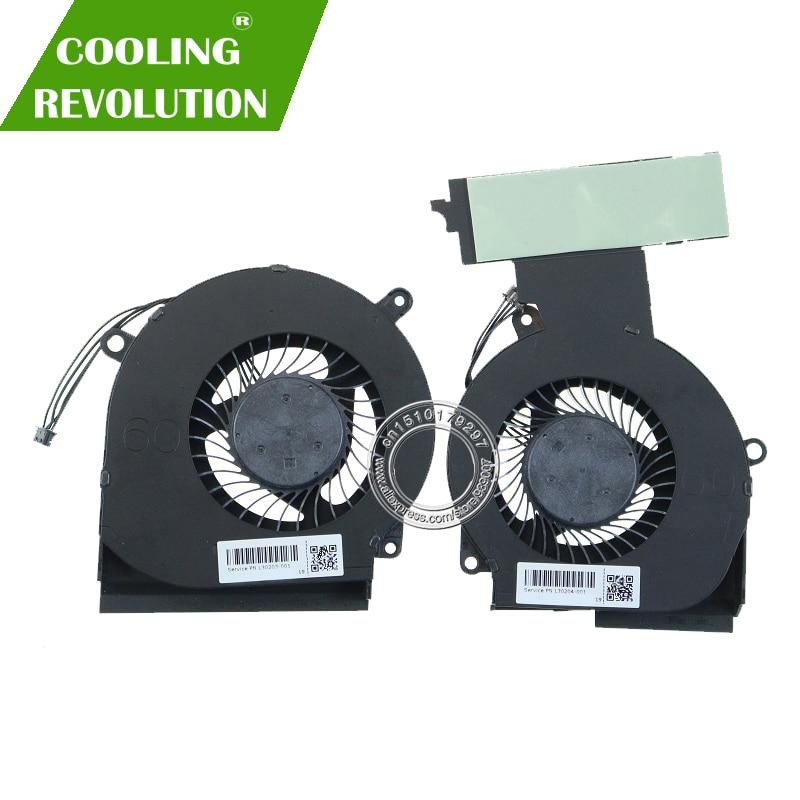 Nouveau ventilateur de refroidissement d'origine pour HP OMEN 15-DC005TX L30203-001 L30304-001