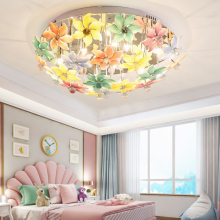 pastoral design ceiling light creative romantic LED flowers glass lamp for living room bedroom ceiling lights fixture restaurant