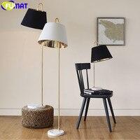 Nordic Minimalist Fishing Floor Lamp Standing Light Fixture American Foyer Bedroom Lamp Creative Marble Base Floor Lighting