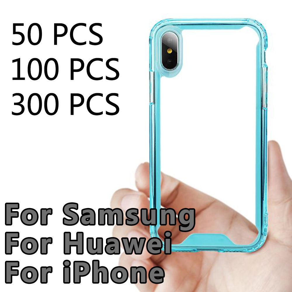 100/300PCS Clear Acrylic Silicone Cases For iPhone 6 7 8 Plus XS XR MAX Samsung S8 S9 S10 E Note Mate FOR HUAWEI 20 P30100/300PCS Clear Acrylic Silicone Cases For iPhone 6 7 8 Plus XS XR MAX Samsung S8 S9 S10 E Note Mate FOR HUAWEI 20 P30
