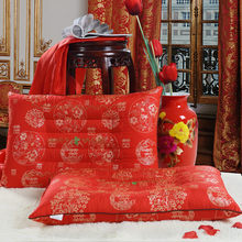New semen cassiae pillow healthcare for wedding red color pillows protect cervical health 46*72cm single pillow brain fitness(China)