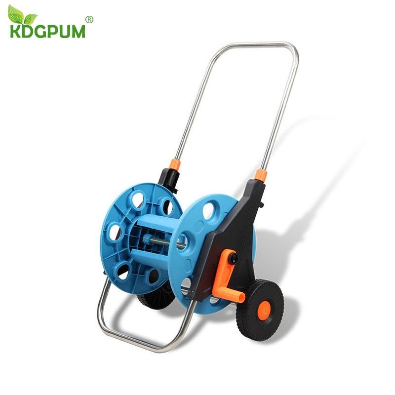 Portable Retractable Garden Empty Hose Reels Can Storage 1 2 Hose 80M Water Hose Storage Tools