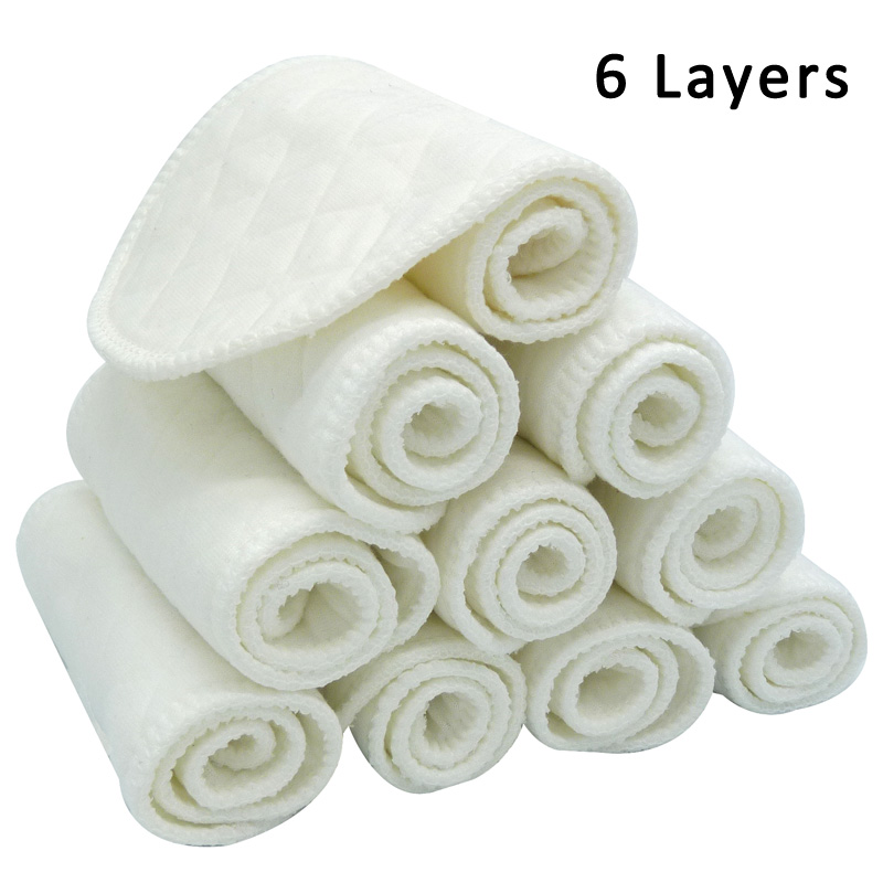 Lots Microfiber Cloth Baby Diapers Inserts Liners Layers Reusable Newborn Nappy