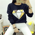 Diamond Graphics ET UFO Hoodies Sweatshirts harajuku round neck Sweats women clothing feminine Loose Short fleece jumpers Sweats