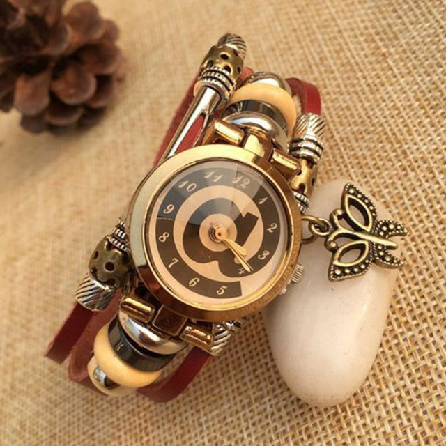 2018 gift new style watch creative design fashion vente women 2018 gift new style watch creative design fashion vente women ladies simple new retro punk cowhide negle Image collections
