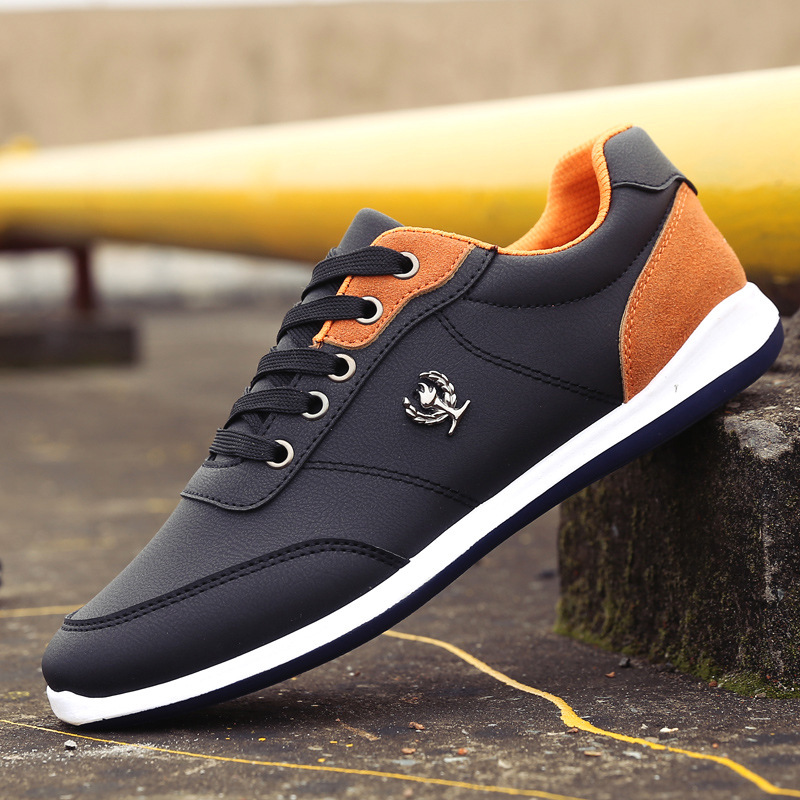 New 2018 Men Shoes Lace Up Designer Spring Autumn Fashion Men Casual Shoes Male Footwear For Men Black Blue K682