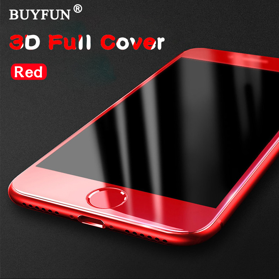 iphone red screen for iphone 7 plus screen protector 3d glass cover 12182