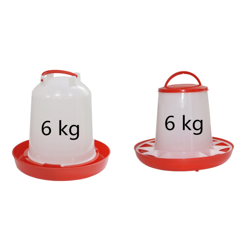 6 kg Chicken drinking kettle, Feed bucket Chicken coop Automatic drinking fountain Poultry Farm Feeding Supplies 1 Pc6 kg Chicken drinking kettle, Feed bucket Chicken coop Automatic drinking fountain Poultry Farm Feeding Supplies 1 Pc