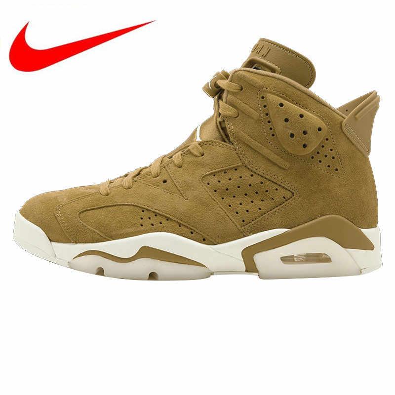 1ffb95a163f5 Оригинальный Nike Air Jordan 6 Ретро AJ6 Joe 6 для мужчин s баскетбольные  кеды спортивная обувь,