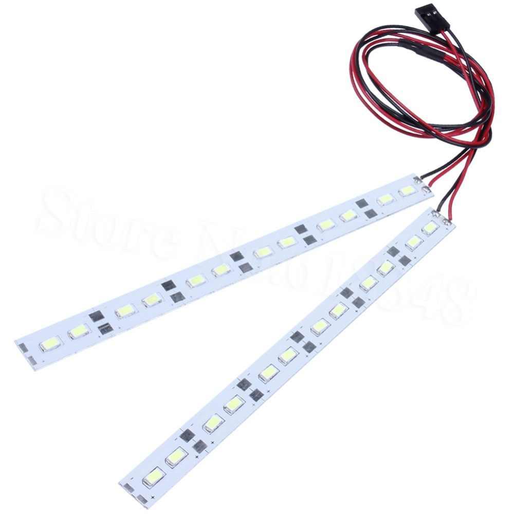 24 luces LED de salpicadero bajo chasis tiras sistema de luces para 1/10 1/8 RC Car body Shell HSP HPI Sakura Drift modelos