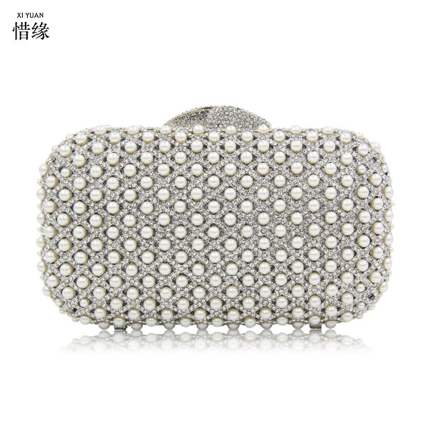 XIYUAN BRAND  Ladies Gold Crystal Evening Clutch Bag Rhinestones Bridal Wedding Clutches Purse Women Party Mini Dinner Handbags gold plating floral flower hollow out dazzling crystal women bag luxury brand clutches diamonds wedding evening clutch purse