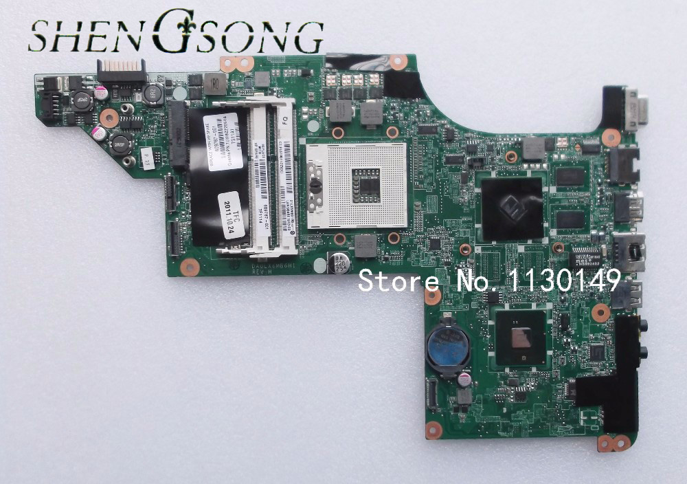 605319-001 Free Shipping laptop motherboard for hp pavilion DV7 DV7-4000 hm55 HD5470/512 ddr3 DA0LX6MB6F1